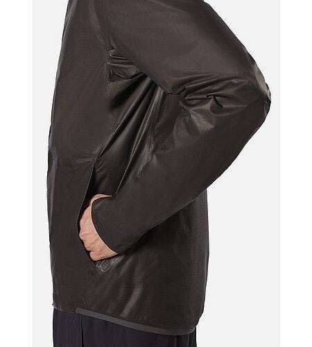 Rhomb Jacket Black Hand Pocket