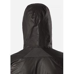Rhomb Jacket Black Hood Back View