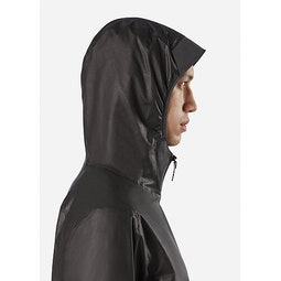 Rhomb Jacket Black Hood Up