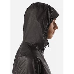 Rhomb Jacket Black Hood View