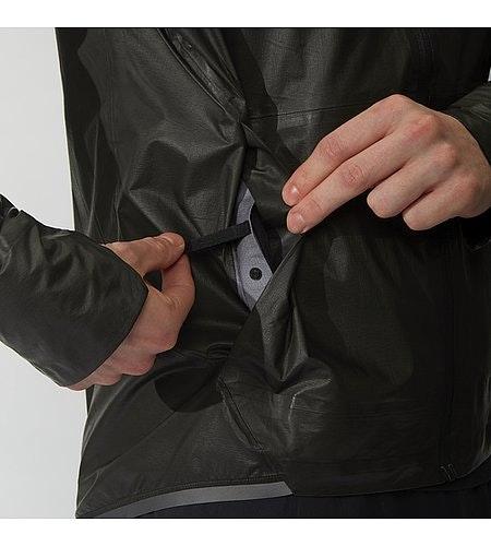Rhomb Jacket Black Waterproof Pocket