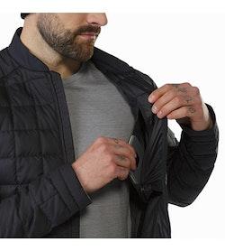 Rico Jacket Black Internal Security Pocket