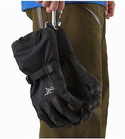 Rush SV Glove Black Carabiner Loop