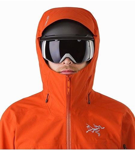 Sabre Jacket Rooibos Helmet Compatible Hood Front View