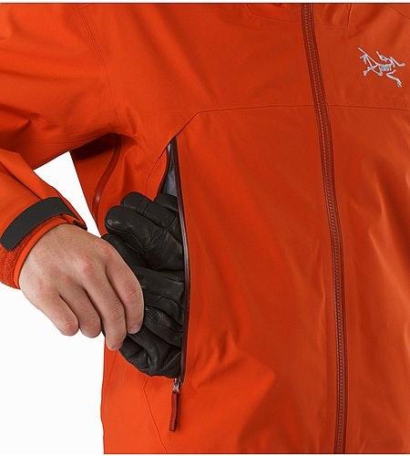 Sabre Jacket Rooibos Seitenbelüftung