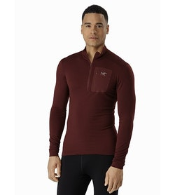 Satoro AR Zip Neck Shirt LS Flux Front View