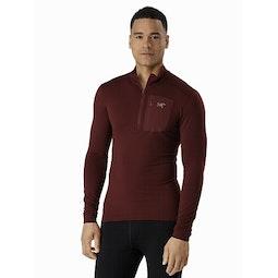 Satoro AR Zip Neck Shirt LS Flux Front View