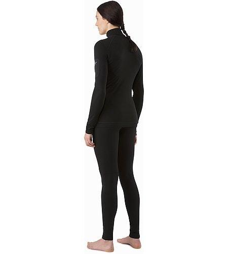 Satoro SV Zip Neck LS Women's Black Back View 2