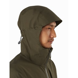Sawyer Coat Draceana Hood Side View