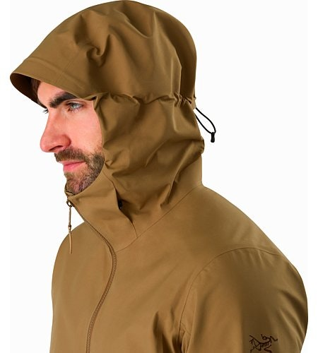 Sawyer Coat Elk Hood Up