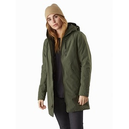 Sensa Parka Women's Dark Aeroponic Heather Front View