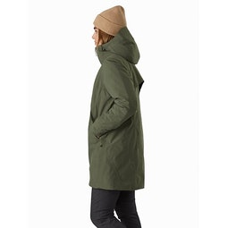 Sensa Parka Women's Dark Aeroponic Heather Side View