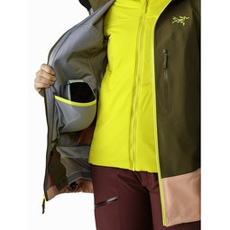 Sentinel LT Jacket Women's Treeline Tonic Internal Dump Pocket