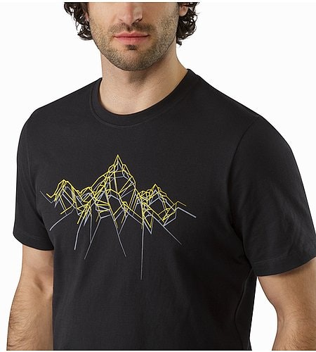 Shards Heavyweight T-Shirt Black Graphic Close Up
