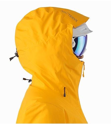 Shashka Jacket Women's Aspen Glow Helmet Compatible Hood Side View