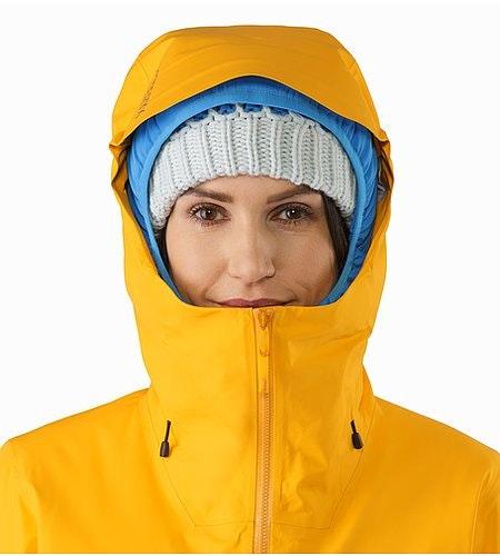 Shashka Jacket Women's Aspen Glow Hood Front View