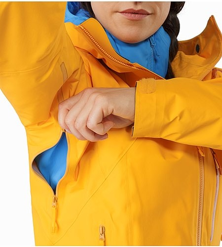 Shashka女装夹克金黄色腋下拉链