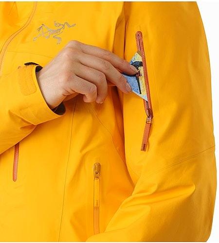 Shashka女装夹克金黄色袖袋