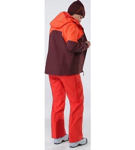 Shashka夹克女装红/暗紫色背面打开