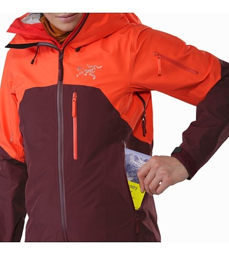 Shashka Jacket Women's Crimson Aura Hand Pocket