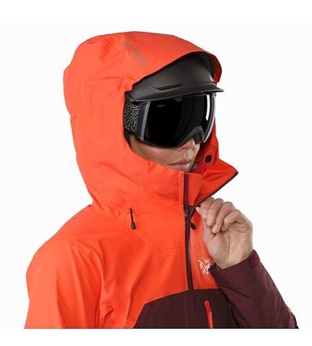 Shashka Jacket Women's Crimson Aura Helmet Compatible Hood