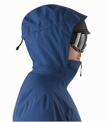 Veste Shuksan Triton Capuche compatible avec un casque Vue de profil