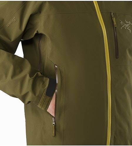 Sidewinder SV Jacket Dark Moss Hand Pocket