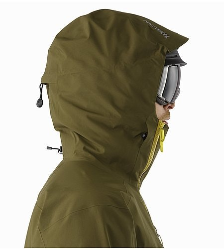 Sidewinder SV Jacket Dark Moss Helmet Compatible Hood Side View