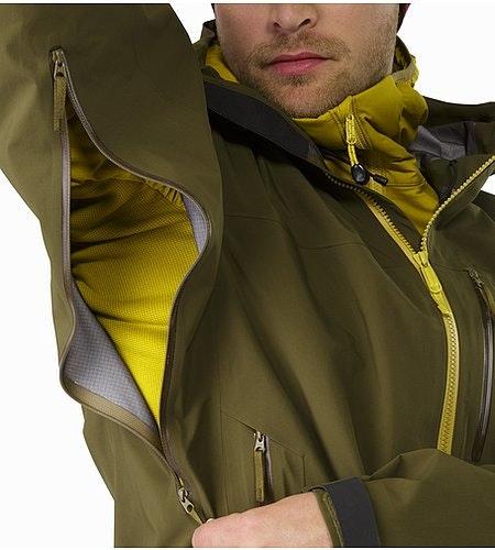 Sidewinder SV Jacket Dark Moss Pit Zip