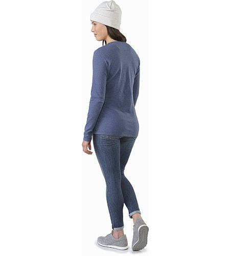 Sirrus Top LS Women's Nightshadow Heather Back View