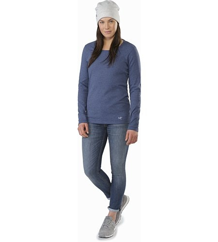 Sirrus Top LS Women's Nightshadow Heather Front View
