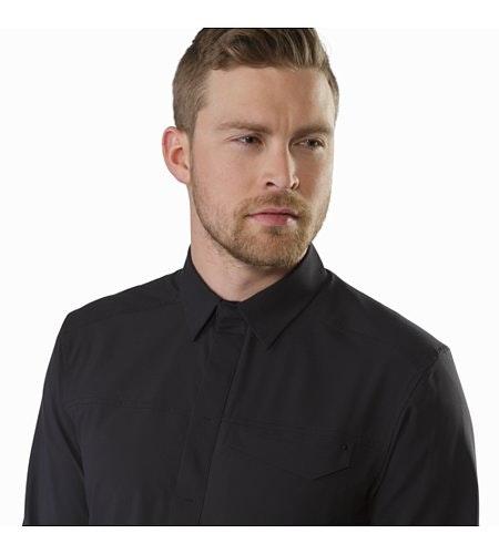 Skyline Shirt LS Black Closed Collar