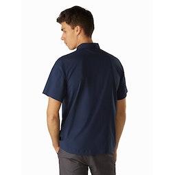 Skyline Shirt SS Cobalt Moon Back View