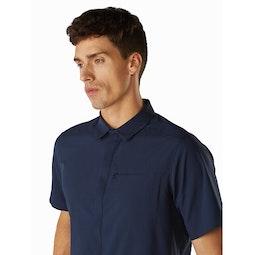 Skyline Shirt SS Cobalt Moon Collar