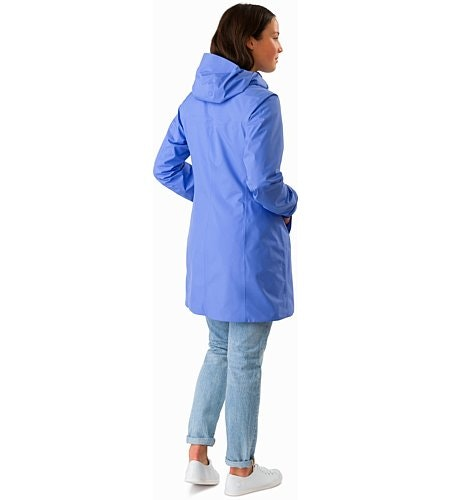 Solano Coat Women's Cloudburst Back View