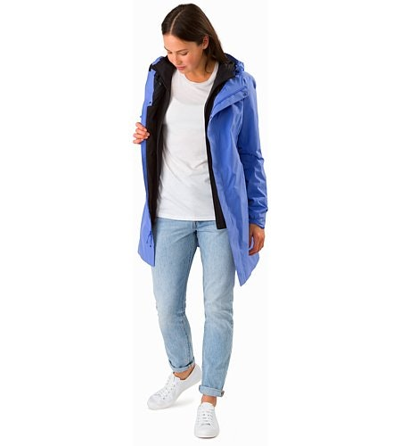 Solano Coat Women's Cloudburst Open View