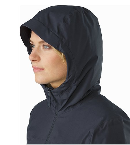 Solano Jacket Women's Black Sapphire Kapuze Seitenansicht