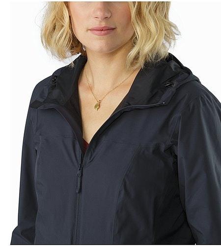 Solano Jacket Women's Black Sapphire Offener Kragen
