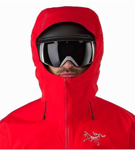 Sphene Jacket Matador Helmet Compatible Hood Front View