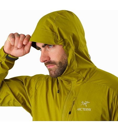 Squamish Hoody Olive Amber Hood Up
