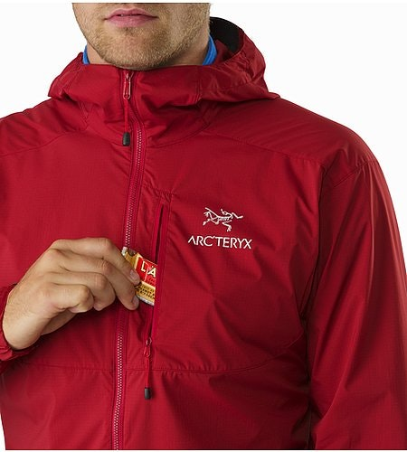 Squamish Hoody Red Beach Chest Pocket