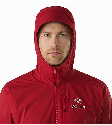 Squamish Hoody Red Beach Hood Front View