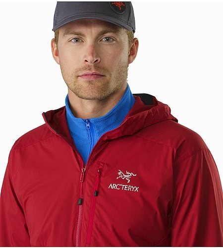Squamish Hoody Red Beach Open Collar