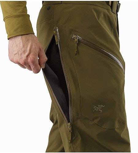Stinger Pant Dark Moss Side Vent