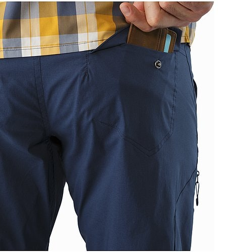 Stowe Pant Nighthawk External Pocket Back