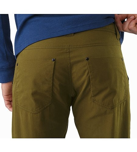 Sullivan Pant Dark Moss External Pocket Back
