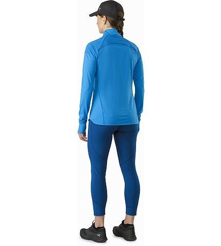 Taema Zip Neck Shirt LS Damen Macaw Rückansicht