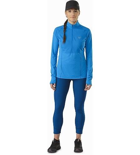 Taema Zip Neck Shirt LS Damen Macaw Vorderansicht