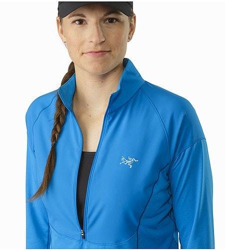 Taema Zip Neck Shirt LS Damen Macaw Offener Kragen