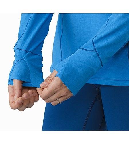 Taema Zip Neck Shirt LS Damen Macaw Daumenschlaufen
